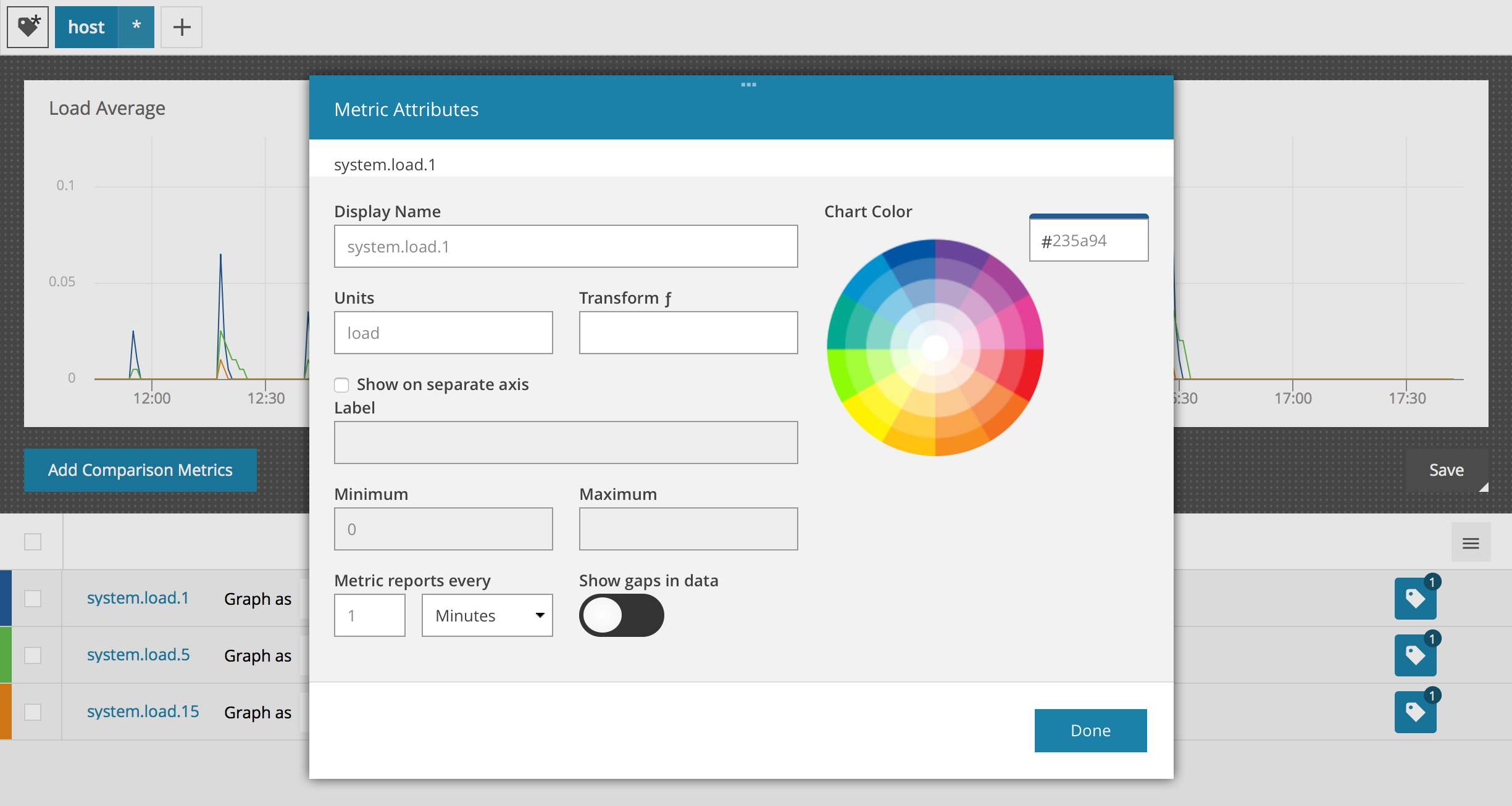 How to change the colors on a metric — AppOptics Knowledge Base