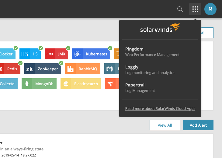 SolarWinds Unified Login — AppOptics Knowledge Base
